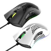 Lightweight M7 Gaming Mouse Honeycomb Shell Ergonomic Mice With Soft Rope Cable