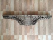 Antique Indian Palace Wooden Wall Panel Beautiful Carved Peacock And Floral Design