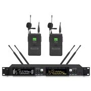 Uhf Wireless Clip-on Microphone System With 2 Lavalier Mic For Shure Microphones