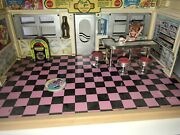 Vintage Hello Street Diner Dixieand039s Play Set 1950and039s Club Epoch Tyco 1988