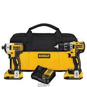 Dewalt-20vmax Drill And Impact Driver Combo Contractor Bag Lithium Ion