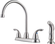 Pfister G136-500s Series 2-handle 1.75 Gallons Per Minute, stainless Steel
