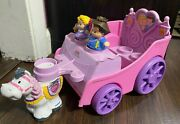 Fisher Price Little People Royal Carriage Horse + And Princess Figure 2007