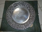 Wilton Armetale Pewter William And Mary Round Platter Tray Plate Charger 18