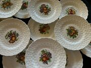 Set Of 11 Spode Alden Luncheon Plates - Floral Design With Embossed Daisy Rims