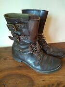 Rare Vintage Wwii Ww2 1940s Brown Combat Military 40s Boots Size 10.5/11