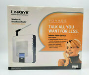 Linksys Wrtp54g 3 Mbps 4-port 10/100 Wireless G Router 2 Phone Lines New