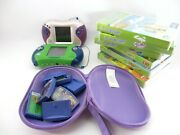 2 Working Leapfrog Leapster 2 Systems With 1 Case And 16 Games