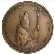 Pope Benedict Xvi Medal 150° Apparition Of Our Lady Of Lourdes By Rubegni 2008