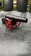 Vintage Big Bang Cast Iron Cannon Toy 6f New...no Firing Pin