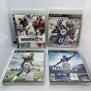 John Madden Ps3 Lot 4 Games Complete Sony Playstation 10 13 15 16 Nfl Football