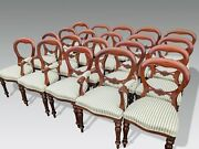 Magnificent Sets Of Victorian Style Balloon Back Chairs Pro French Polished