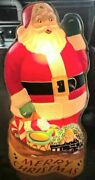 Beautiful Vintage 1950and039s Santa Claus Noel Christmas Lite Up Decoration