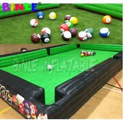 Outdoor Inflatable Football Pool Human Billiards Inflatable Soccer Snooker Pool