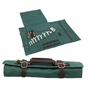 Large Tool Roll Bag, Heavy Duty Waxed Canvas Wrench Tool