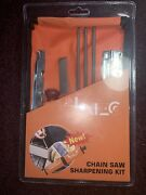 Chainsaw Sharpener File Kit - 5/32 3/16 7/32 Inch Files Wood Handle Free Ship