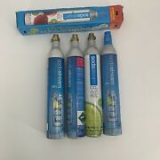 Soda Stream 60l Co2 Cylinder Lot Of 4 Pieces 1 New 3 Empty Sodastream Used