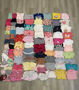 Huge Lot Of Baby Girl Clothes In Size 3-6 Months. Total 85 Pieces.