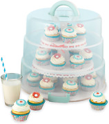 Sweet Creations 3 Tier Collapsible Cupcake And Cakepop Display Carrier With