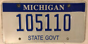 State Government Police License Plate Officer Official Vehicle Trooper Patrol Mi