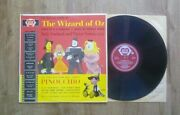 The Wizard Of Oz And Pinocchio Vinyl Lp Judy Garland And Victor Young, Clff Edwards