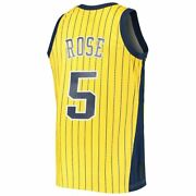 Mitchell And Ness Indiana Pacers Jalen Rose 1999-00 Stripes Yellow Swingman Jersey