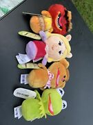 Hallmark Lot Of 4 Itty Bittys Muppets Kermit Miss Piggy Animal Fozzie And Tote Bag