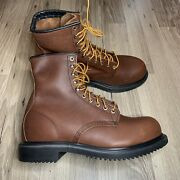 """Red Wing 2233 Supersole 8"""" Steel Toe Leather Safety Boots Mens Size 9 E3 Eee New"""