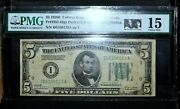 1928-b 5 Federal Reserve Note ✪ Baby Face Nelson Cash Hoard ✪ Pmg F-15◢trusted◣