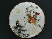 Williams Sonoma 1 One Twas The Night Before Christmas Dinner Plate Reindeer