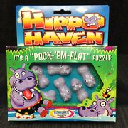 Vintage 1998 Hippo Haven By Binary Arts-pack Em Flat Puzzle Game - New Sealed