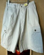 Nwt Chaps Menandrsquos Solid Pleated Cargo Shorts Size 32
