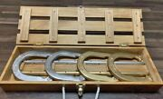 Old School Gold/silver Edition Horseshoe Set In Wooden Box