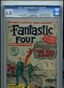 Fantastic Four 13 Cgc 6.0 1st Appearance Of The Watcher And Red Ghost -jack Kirby