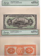 ✪ 1929 5 Eastern Bank Of Canada - Legacy - 225-10-02p - Proof - 65 + 66 Ppq