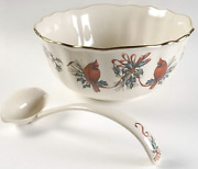 Lenox Winter Greetings Punch Bowl And Ladle Hard To Find
