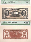 ✪ 1931 100 The Dominion Bank - Canada Face + Back Proof - 64 + 67 Ppq