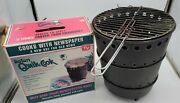 Safari Qwik Cook Round Tailgate Sports Bbq Grill Portable Cook With Newspaper
