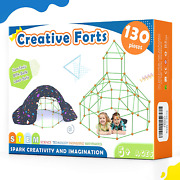 Kids-fort-building-kits-130 Pieces-creative Fort Toy For 567 Years Old Boy And G