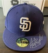 Topps Authentics Fernando Tatis Jr Autographed Navy And White Padres Hat Cap 7 1/4
