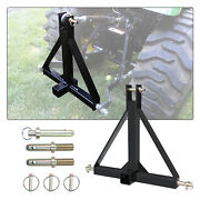 3 Point 2'' Trailer Receiver Hitch Tow Drawbar Category 1 Tractor Steel Adapter