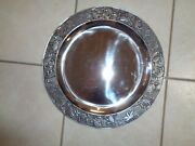 Wilton Armetale Crab Large Round Tray Platter Charger 14