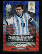2014 Panini Prizm World Cup Stars Blue And Red Wave Prizms Lionel Messi 1