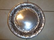 Wilton Armetale Mendocino Serving Cheese Tray Charger Platter 13 1/2