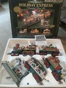 The Holiday Express Animated Train Set 6 Piece G Gauge 387 Works Christmas Decor