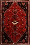 Vintage Geometric Traditional Tribal Oriental Area Rug Hand-knotted Wool 6x10 Ft