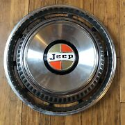 1976-1983 Jeep Wagoneer Hubcap Wheel Cover - Orange And Brown Center Cap