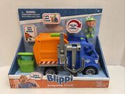 New Blippi 3 Action Figure And Recycling Trash Truck Sound Vehicle Kids Toy Car