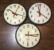 Lot Of 3 Lathem Wall Clock Ss12rfa 13 For Parts