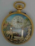 Vtg Charles Reuge Gold Plated Musical Pocket Watch. Cal 5261. Excellent Conditi